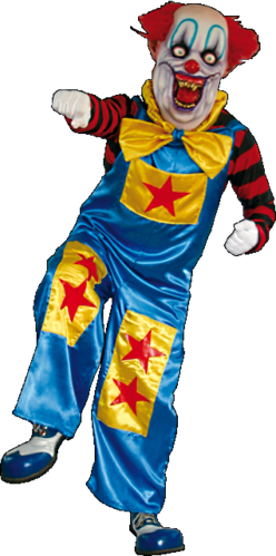 Big bow clown costume with mask
