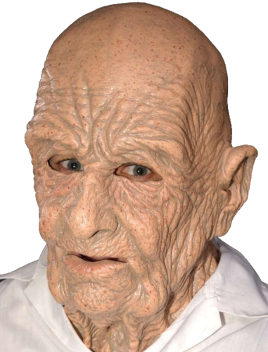 Grandad wrinkly OLD MAN latex mask