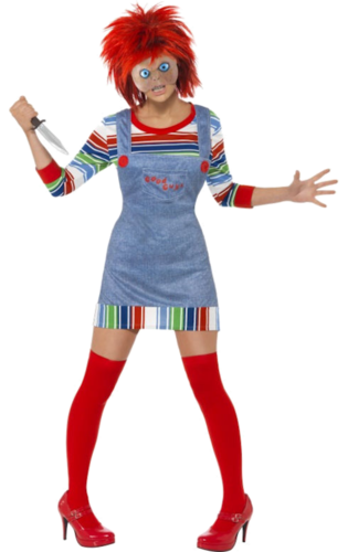 Miss Chucky costume with mask - Halloween