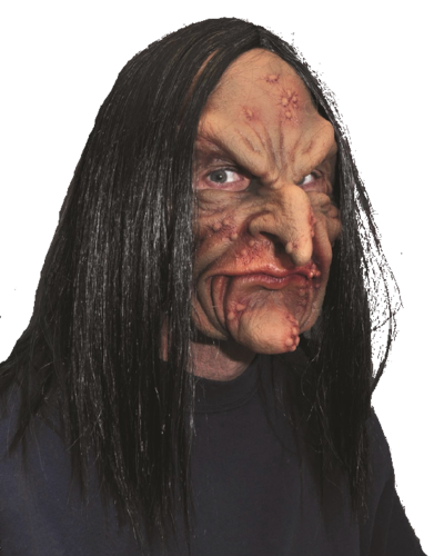 Deviant witch Moving mouth mask - Halloween