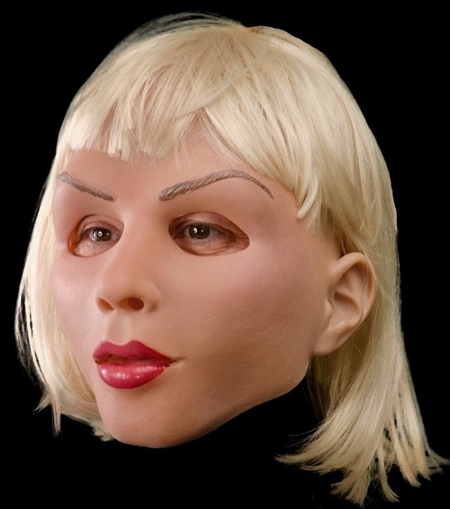 Blonde and Beautiful Mask Soft and blonde diva female lady mask