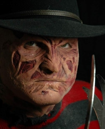 Prosthetic SFX makeup face mask freddy nightmare