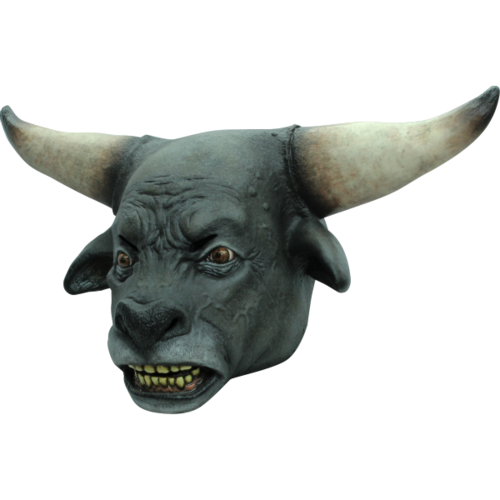 Bull latex mask adult size - full over the head bull mask