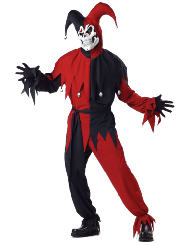 Jester horror costume with mask
