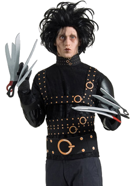 Edward Scissorhands Costume with wig