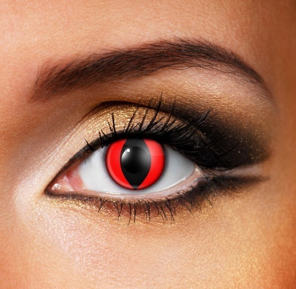 Red wolf Contact Lenses - Pair of lenses for vampire or wolves