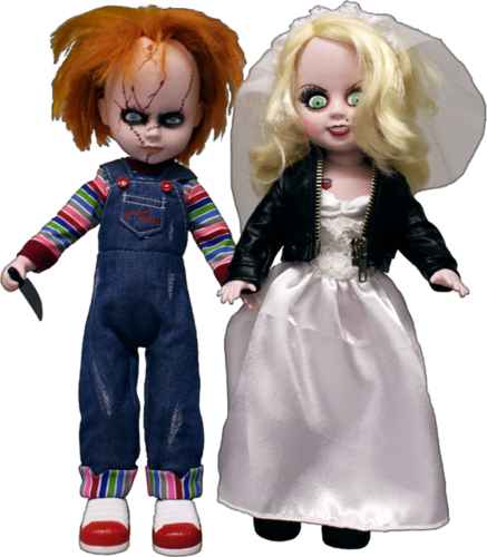 "Chucky and Tiffany 10"" Living dead dolls twin pack"